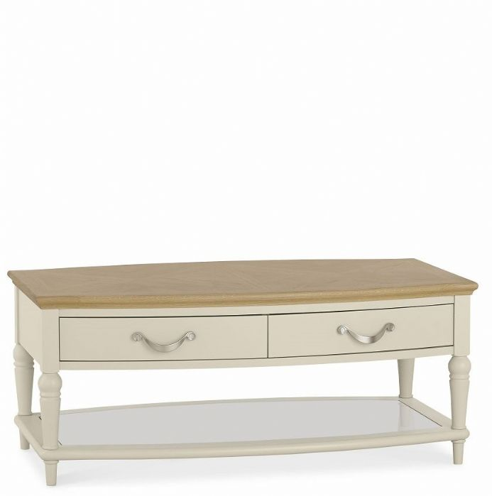 Antique White And Oak Coffee Tables: Montreux Oak And Antique White Coffee Table